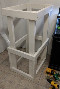 DIY Aquarium Rack - Shelf frame assembled