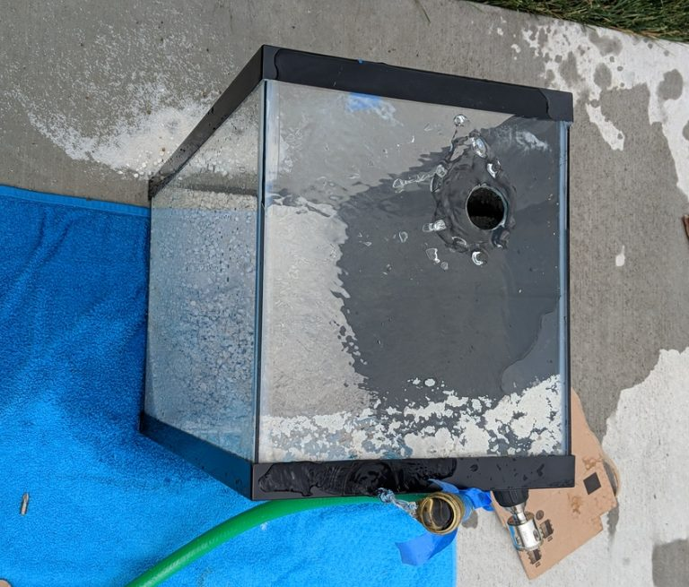 Drilling 10 Gallon Aquariums for Overflows