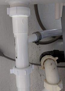 under sink drain connection