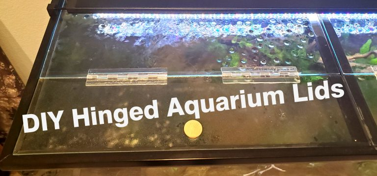 DIY Hinged Glass Aquarium Lids